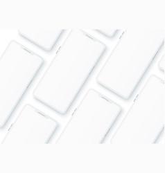 3d frameless smartphone mock up pattern vector image