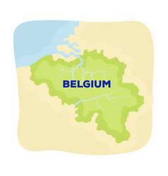 a fragment of the map of belgiumthe dark belgian vector image