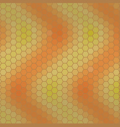 abstract hexagon grid - shades of orange and green vector image