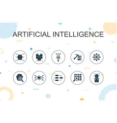 artificial intelligence trendy infographic vector image