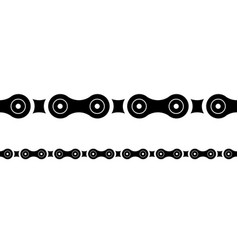 Bicycle and motorcycle chains seamless chainline vector