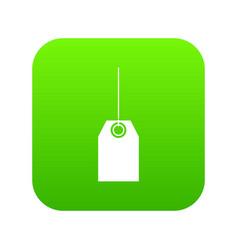 blank black tag icon digital green vector image