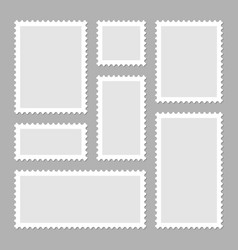 blank postage stamps collection sticky paper vector image