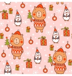 Cartoon new year texture vector