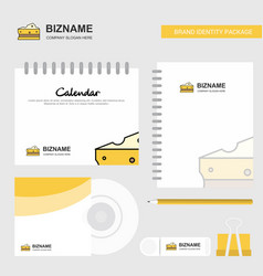 cheese logo calendar template cd cover diary and vector image