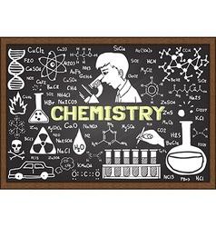 Chemistry on chalkboard vector