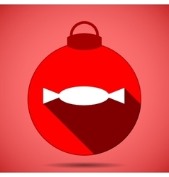 Christmas icon with the silhouette of candy vector