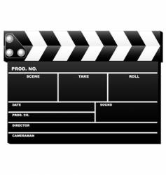 Closed clapboard vector