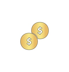 Coins computer symbol vector