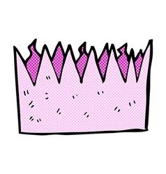 Comic cartoon paper crown vector