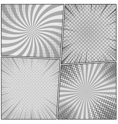 Comic monochrome design composition vector