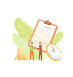 Concept business agreement partnership vector