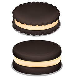 Dark chocolate cookie and cream vector