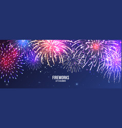 Festive fireworks realistic colorful firework vector