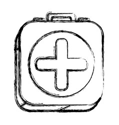 Figure square first aid kit medicine vector