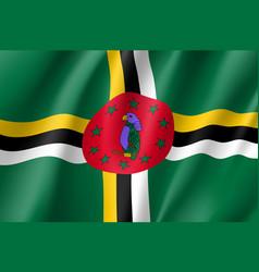 Flag dominica realistic icon vector