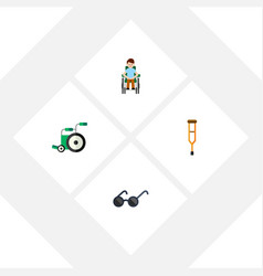 Flat icon disabled set of equipment disabled vector