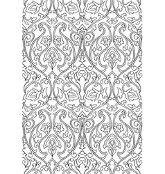 floral ornament for wallpaper vector image