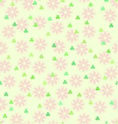 Flower shamrock pattern seamless spring vector