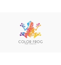 Frog logo color logo creative logo design vector