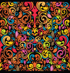 Funky seamless pattern vector