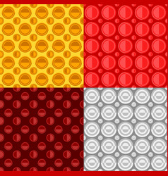 Geometrical seamless pattern set - circle vector