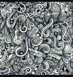 Graphic hippie hand drawn artistic doodles vector