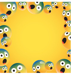 Group high detailed yellow emoticons vector
