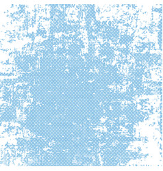 Grunge blue halftone background vector
