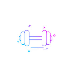 gym icon design vector image