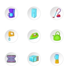 Home electronics icons set cartoon style vector