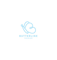 Initial b or letter b animal insect butterfly vector