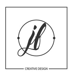 Initial jf letter logo template design vector