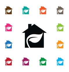 isolated edifice icon leaf element can be vector image
