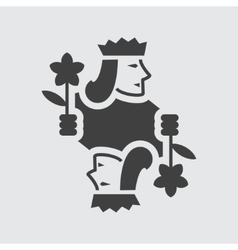 Jack playing card icon vector