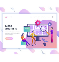 landing page template data analysis concept vector image