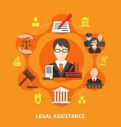 Law orange composition vector