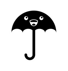 Little umbrella isolated icon vector
