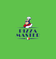 logo for the italian pizzeria vector image