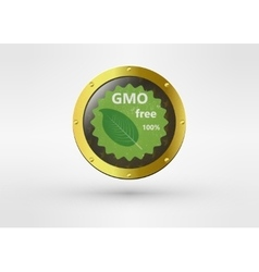 Made with non - gmo ingredients grunge rubber vector