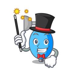 Magician ambu bag mascot cartoon vector