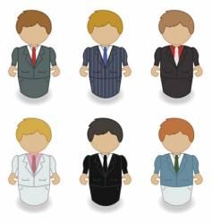 men in suits vector image