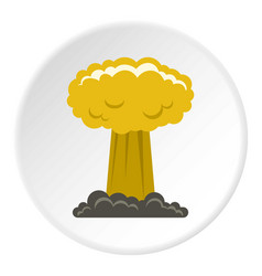 Mushroom cloud icon circle vector