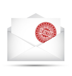 Open envelope rejected rubber stamp failure vector