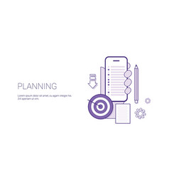 planning strategy business concept banner with vector image