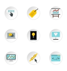 Promotion icons set flat style vector