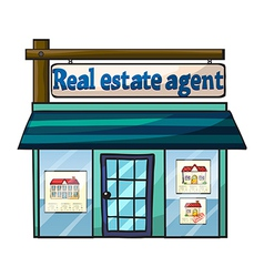 Real estate agent vector image