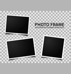 Realistic photo frames vector