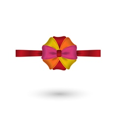 red yellow pink and orange elegant bow vector image