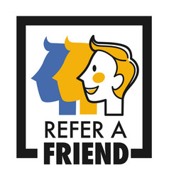 Refer friend isolated icon share internet media vector